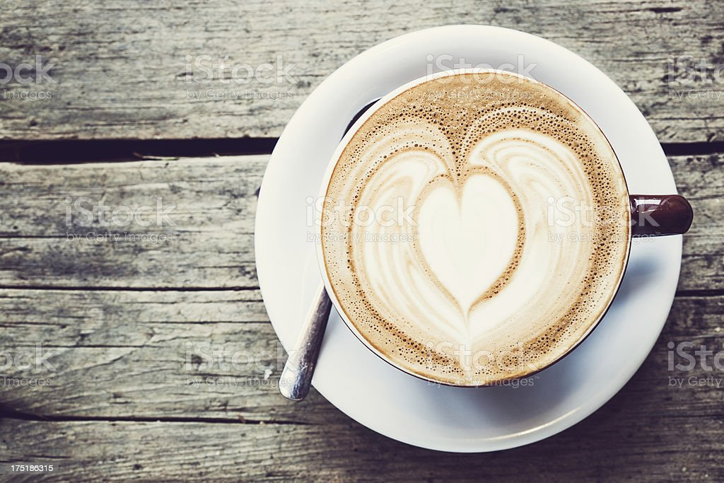 Heart Latte Froth Art royalty-free stock photo