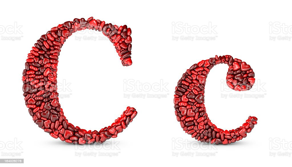 Heart Letter C stock photo