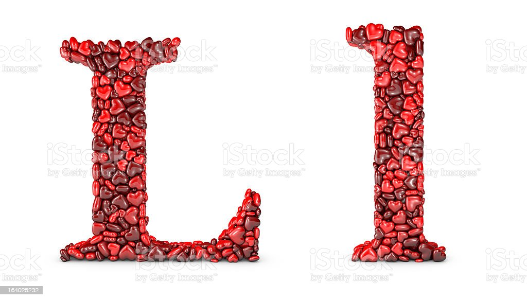 Heart Letter L royalty-free stock photo