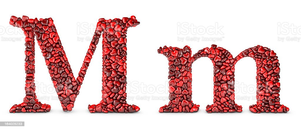 Heart Letter M royalty-free stock photo
