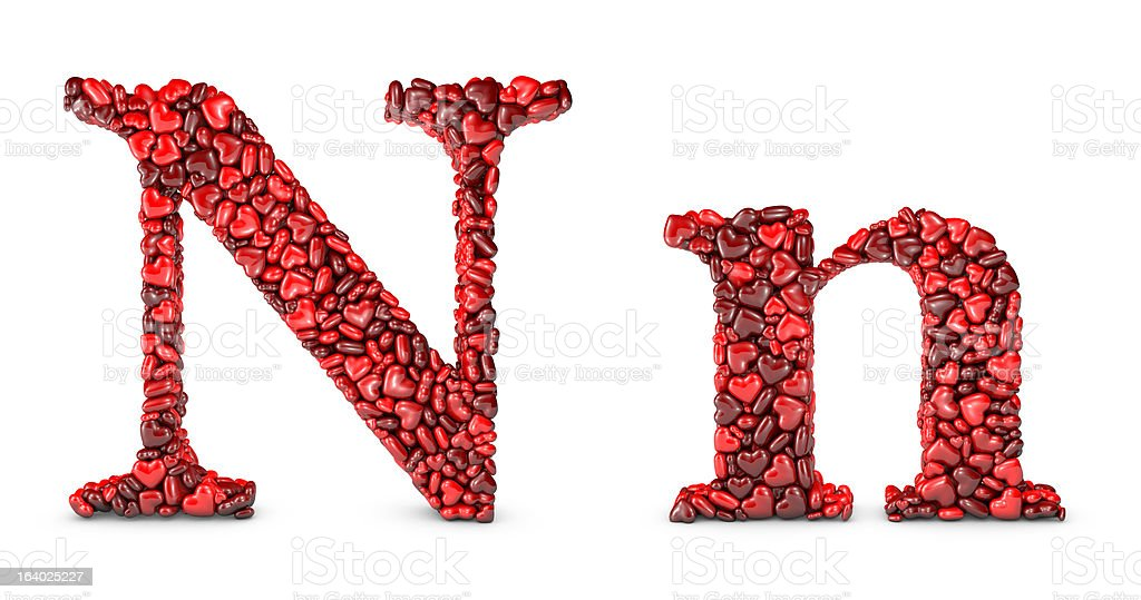 Large letter N Applique machine embroidery design Monogram