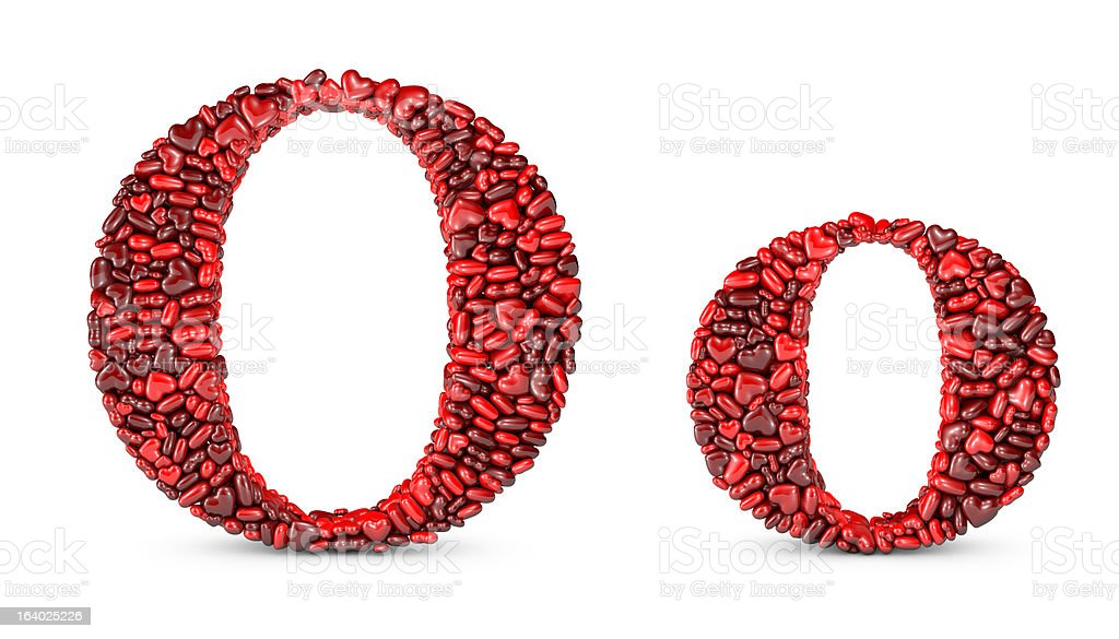 Heart Letter O royalty-free stock photo
