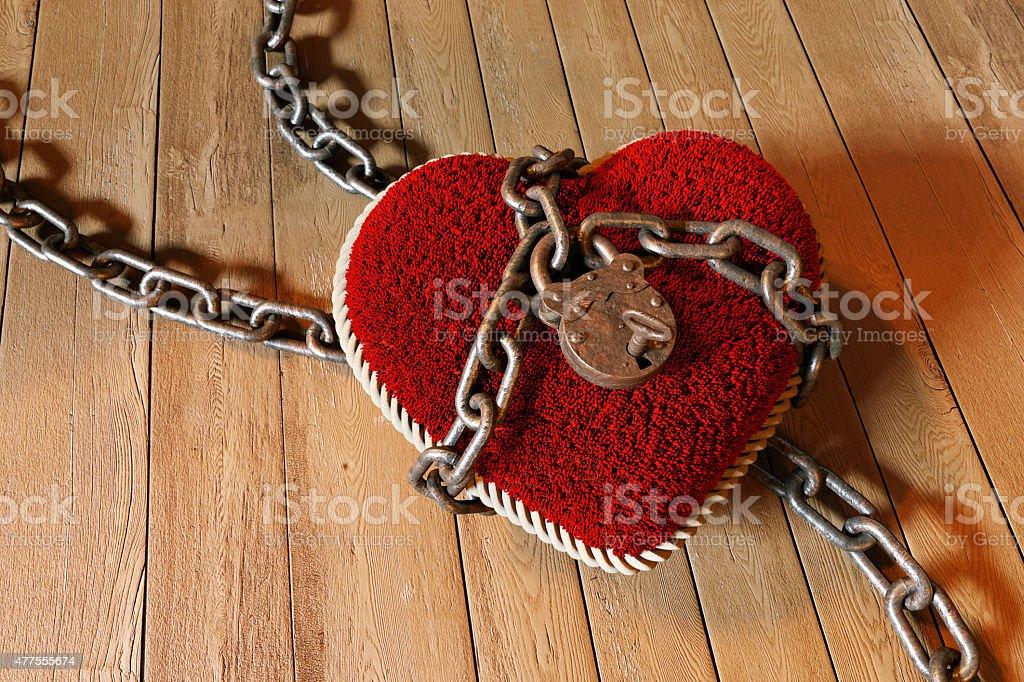 Heart Lock D1 stock photo