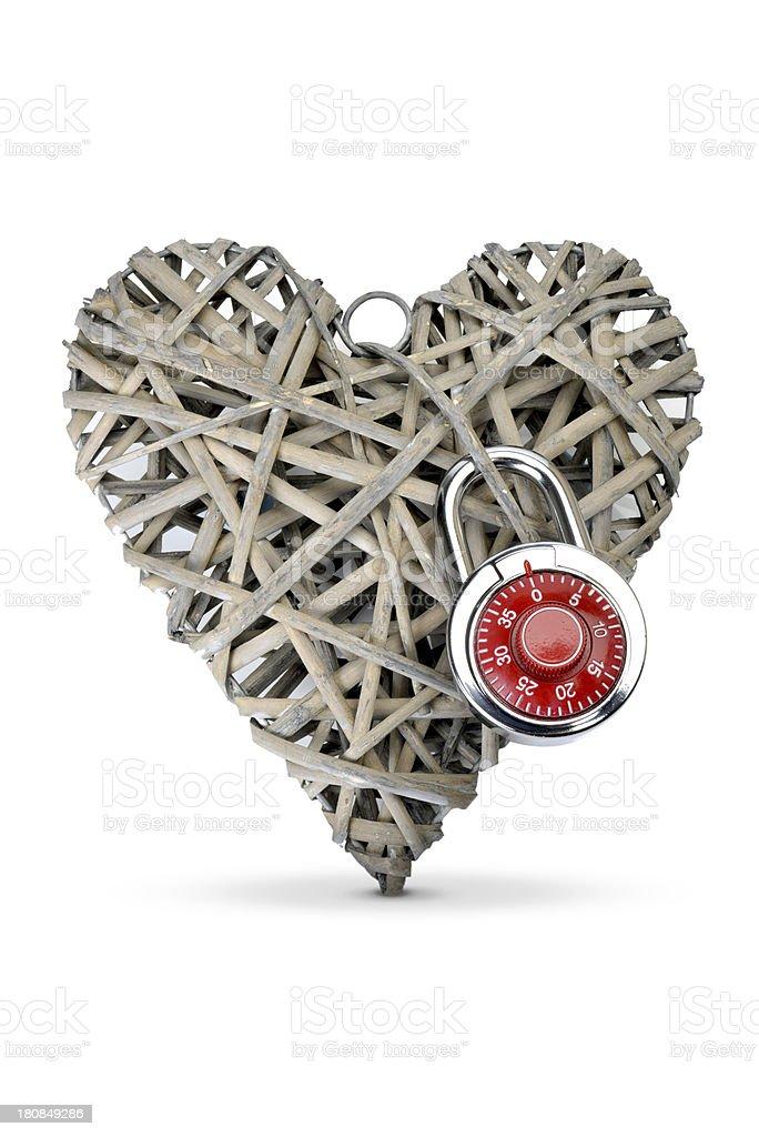 heart locked stock photo