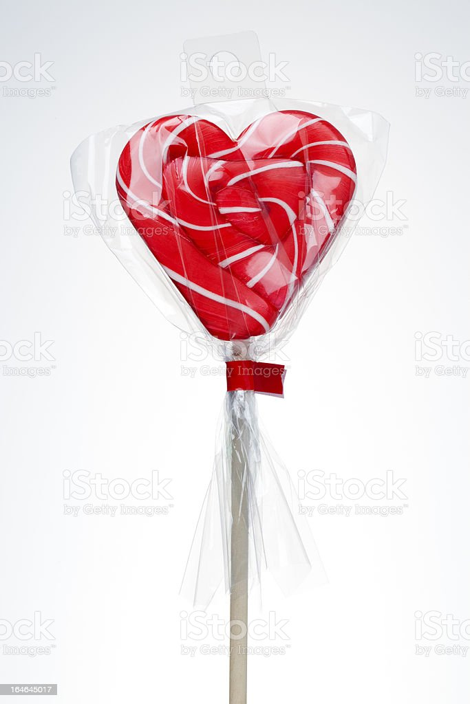Heart Lollipop isolated on white royalty-free stock photo