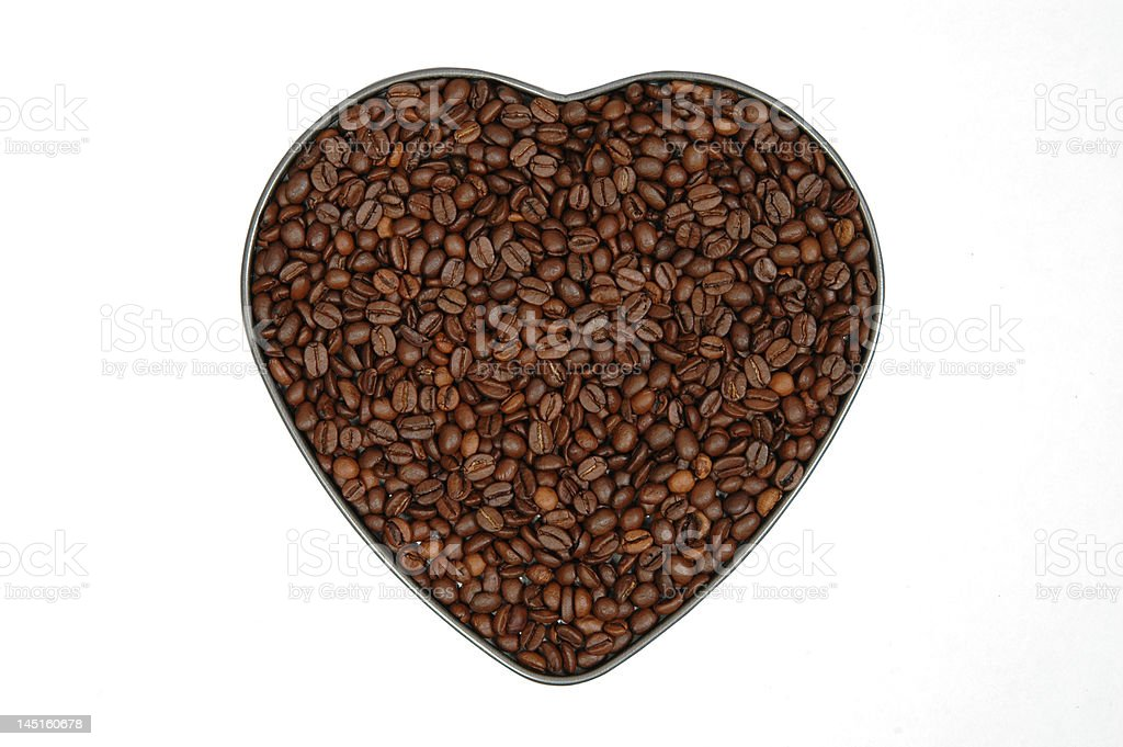 Heart made of coffee royalty-free stock photo