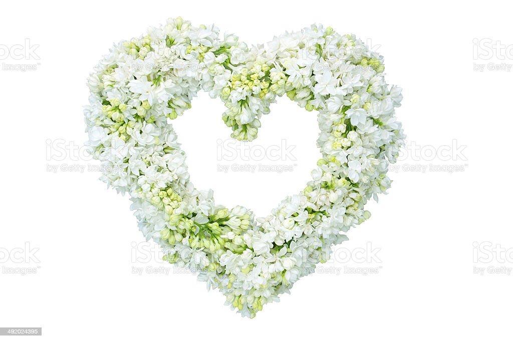 Cœur composé de fleurs photo libre de droits