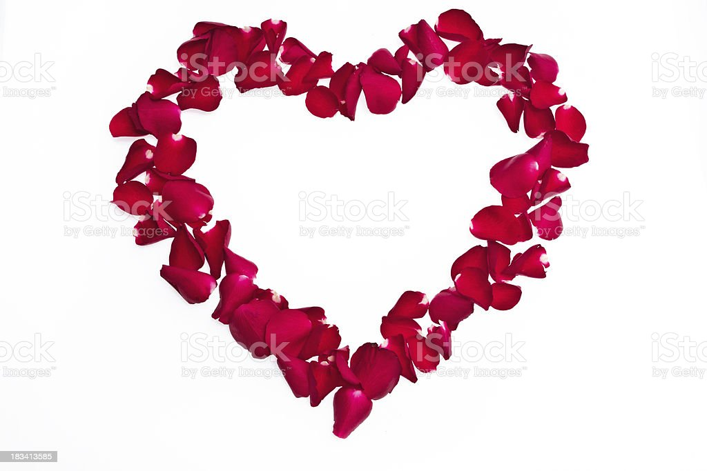 heart made of roses royalty-free stock photo