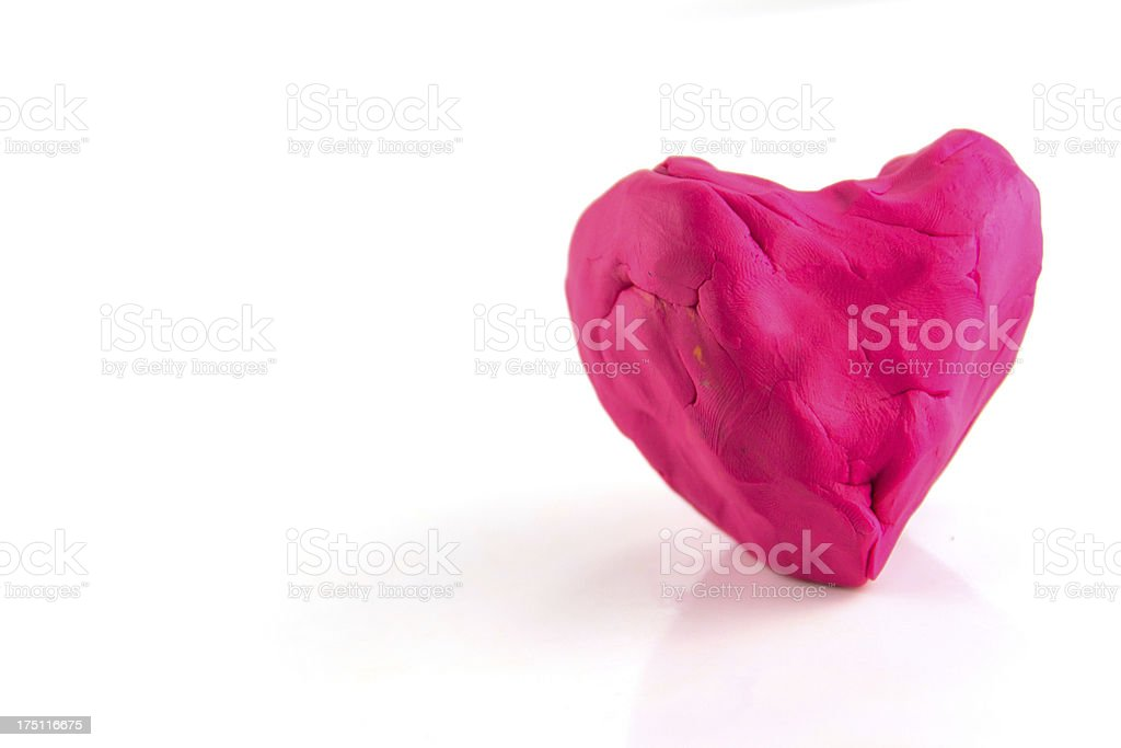 heart made with plasticine royalty-free stock photo