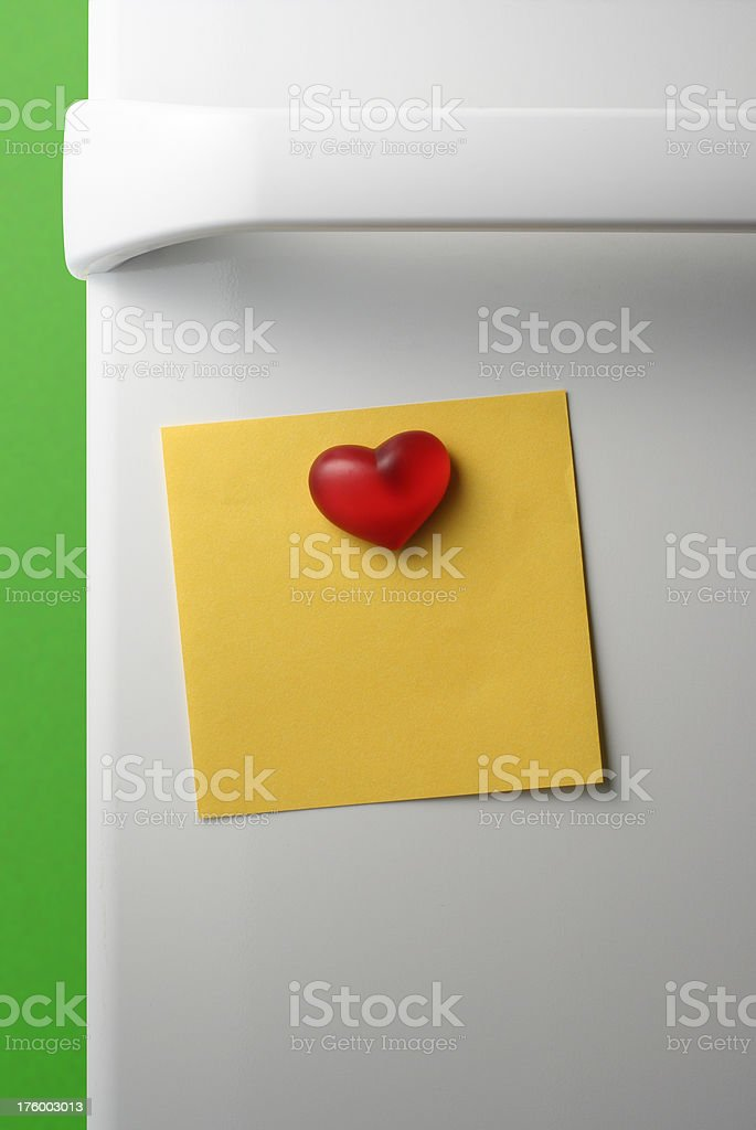 Heart Magnet royalty-free stock photo