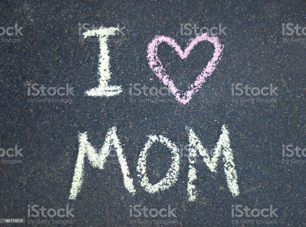 I Heart Mom royalty-free stock photo