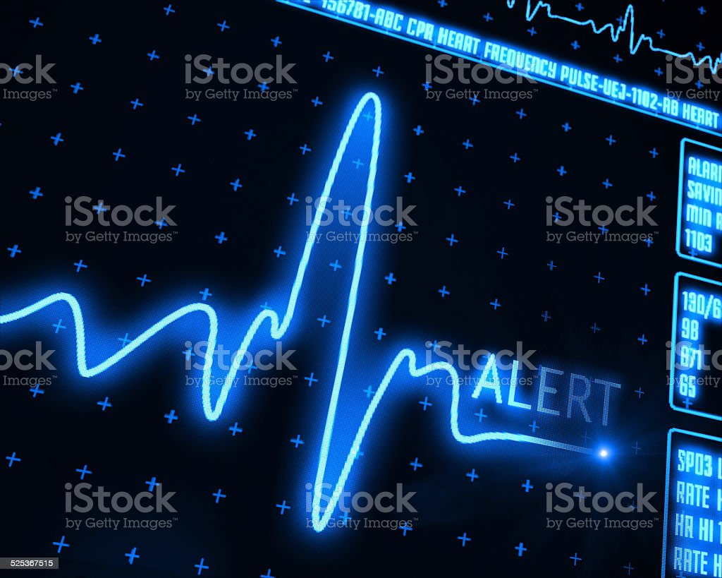 Heart Monitor alert stock photo
