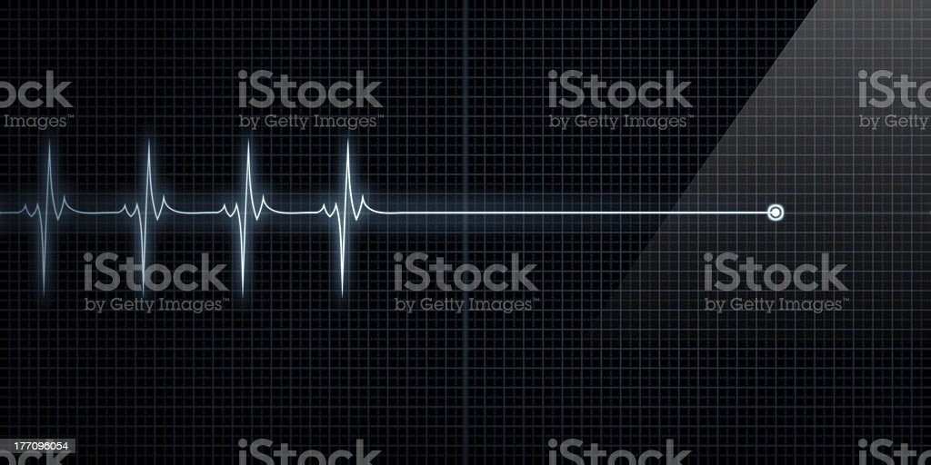 Heart Monitor Flat Line Death stock photo