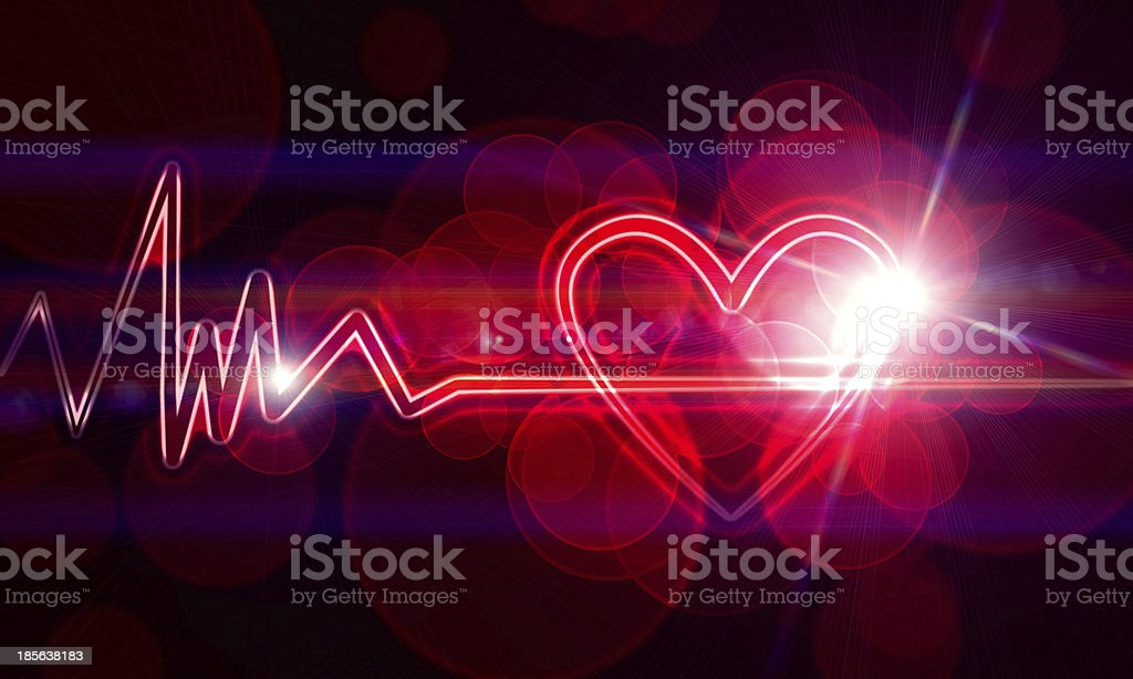heart monitor royalty-free stock photo