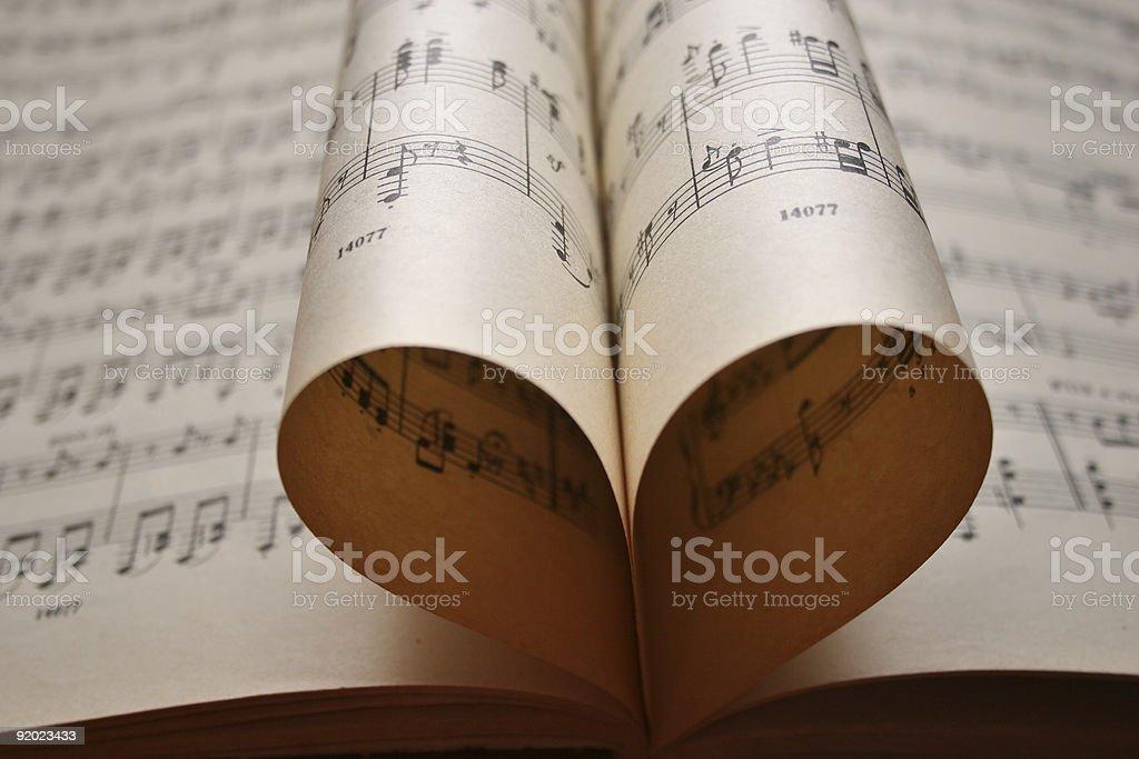 heart music notes stock photo