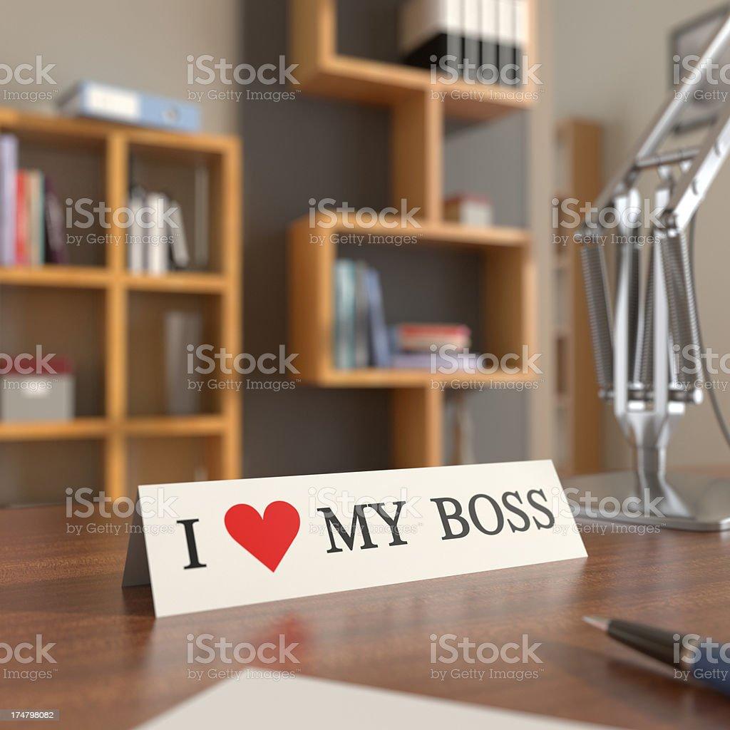 I Heart My Boss XL+ stock photo