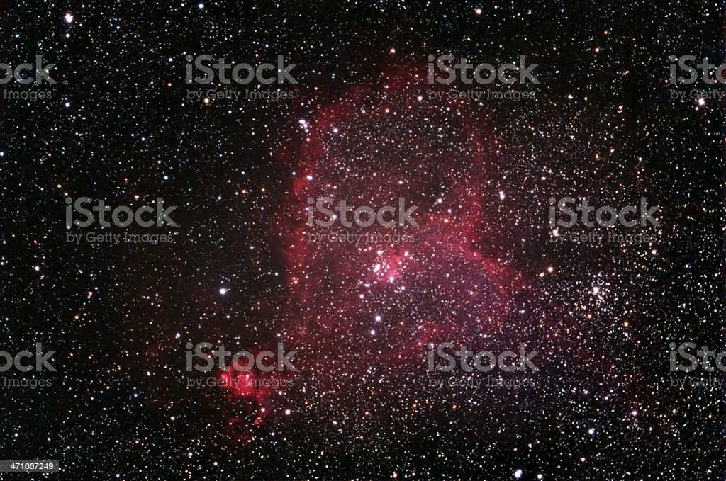 Heart Nebula stock photo