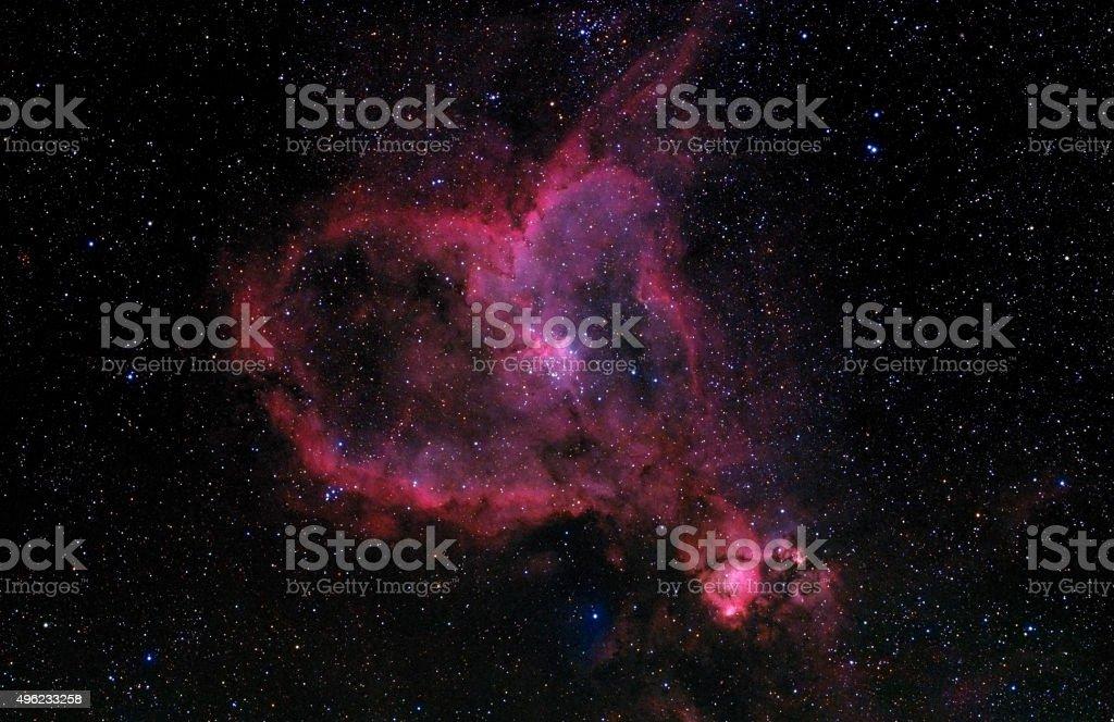 Heart Nebula (IC 1805) stock photo
