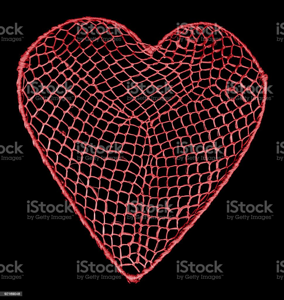 Heart net stock photo