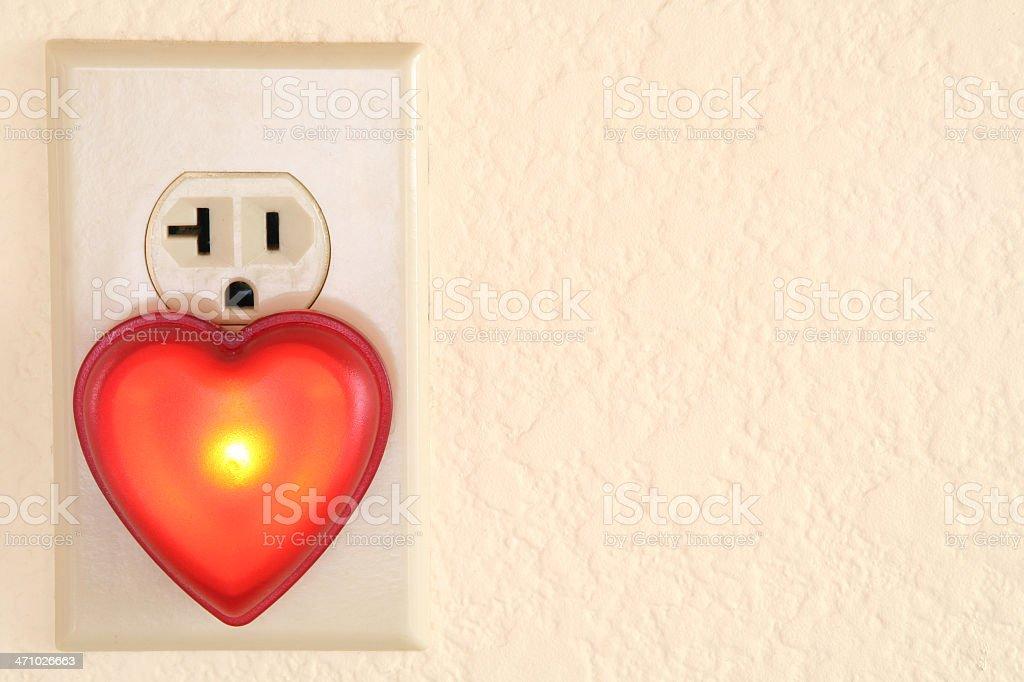 Heart Night Light stock photo