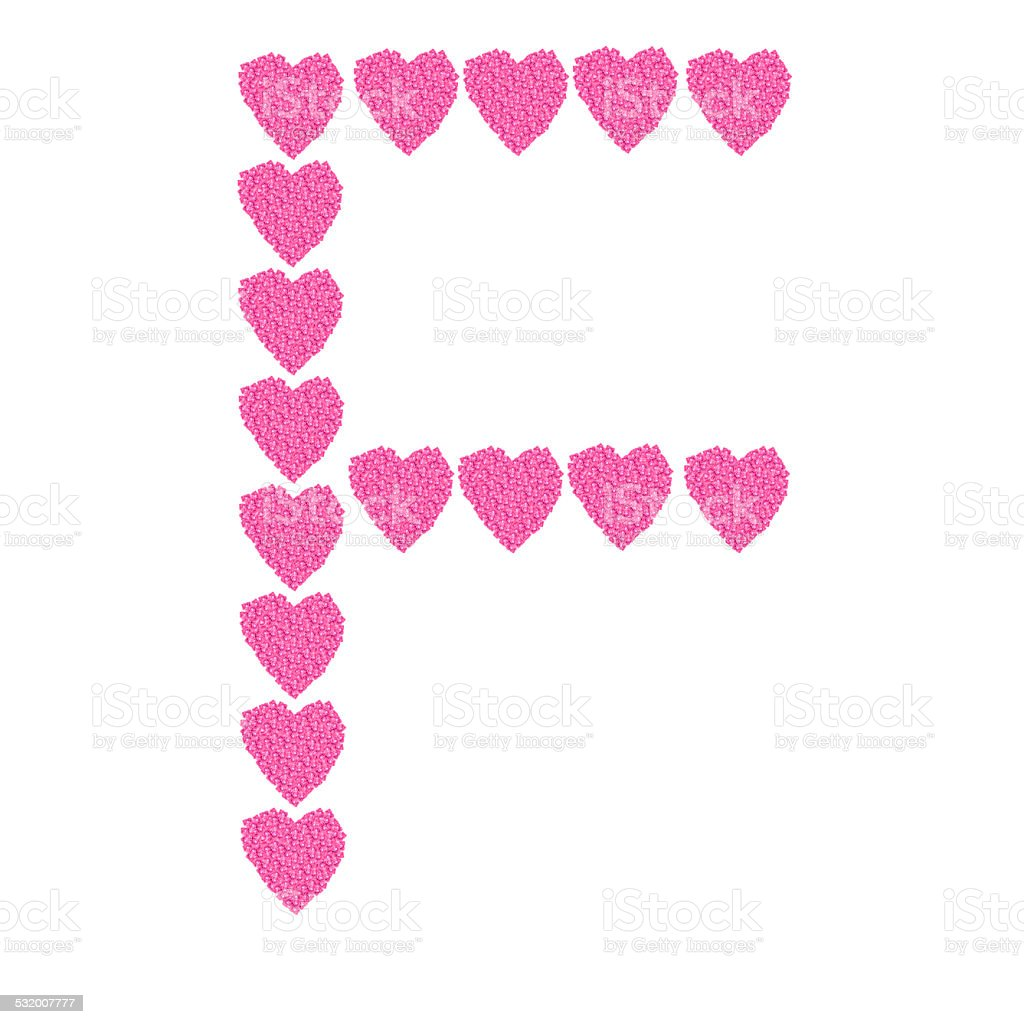 Heart of a linear character. stock photo