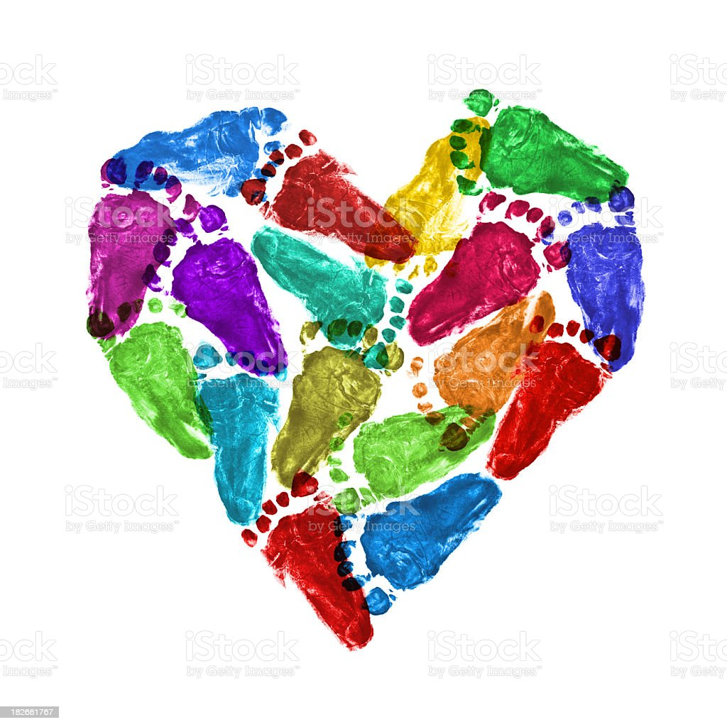 Heart of baby footprint royalty-free stock photo