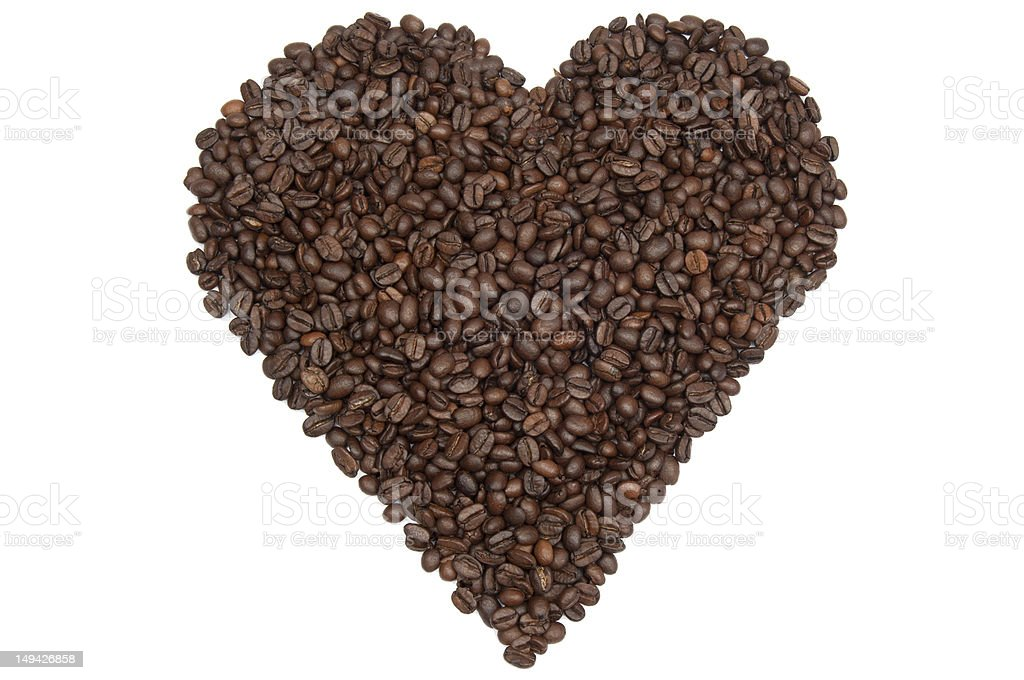 Heart of beans royalty-free stock photo