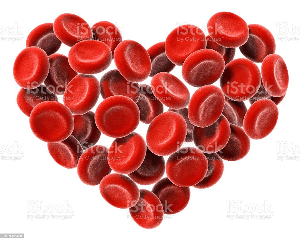 Heart Of Blood Cells stock photo