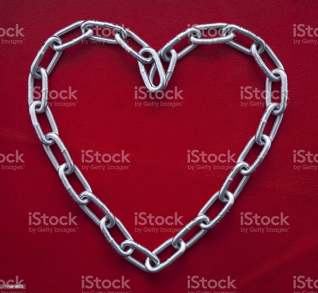heart of chain royalty-free stock photo