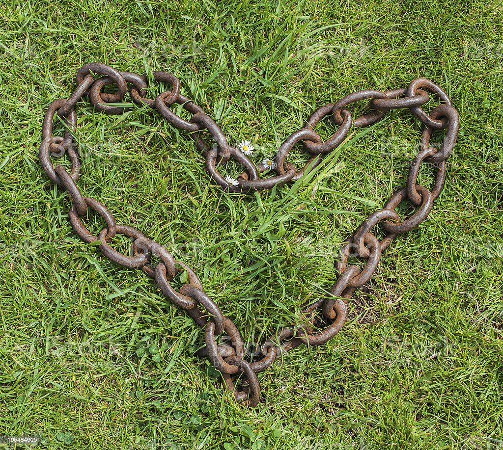 Heart of chains royalty-free stock photo