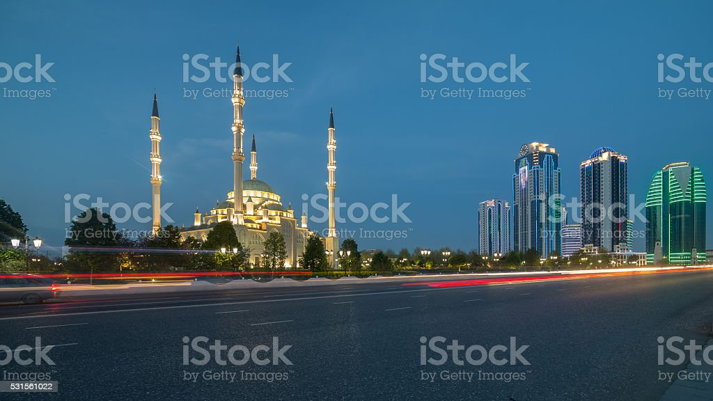Heart of Chechnya on September 04, 2014 in Grozny. stock photo