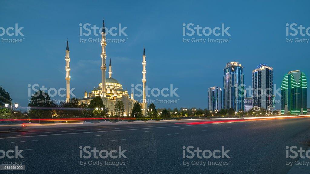 Heart of Chechnya on September 04, 2014 in Grozny. stock photo