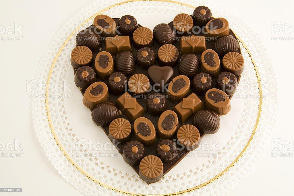 heart of chocolates royalty-free stock photo