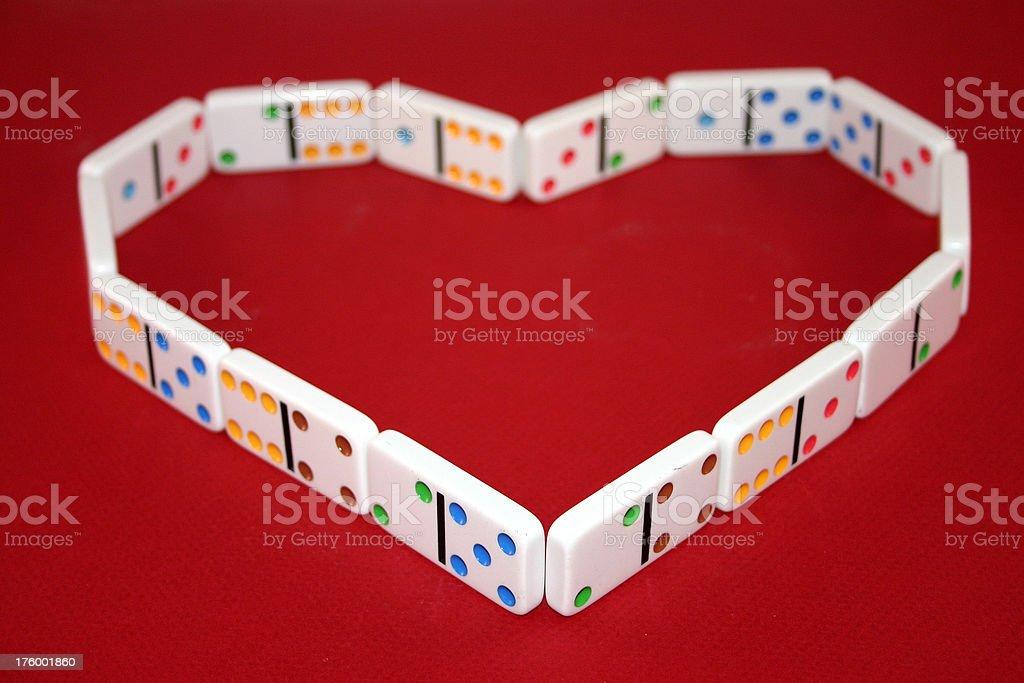 Heart of Dominoes stock photo