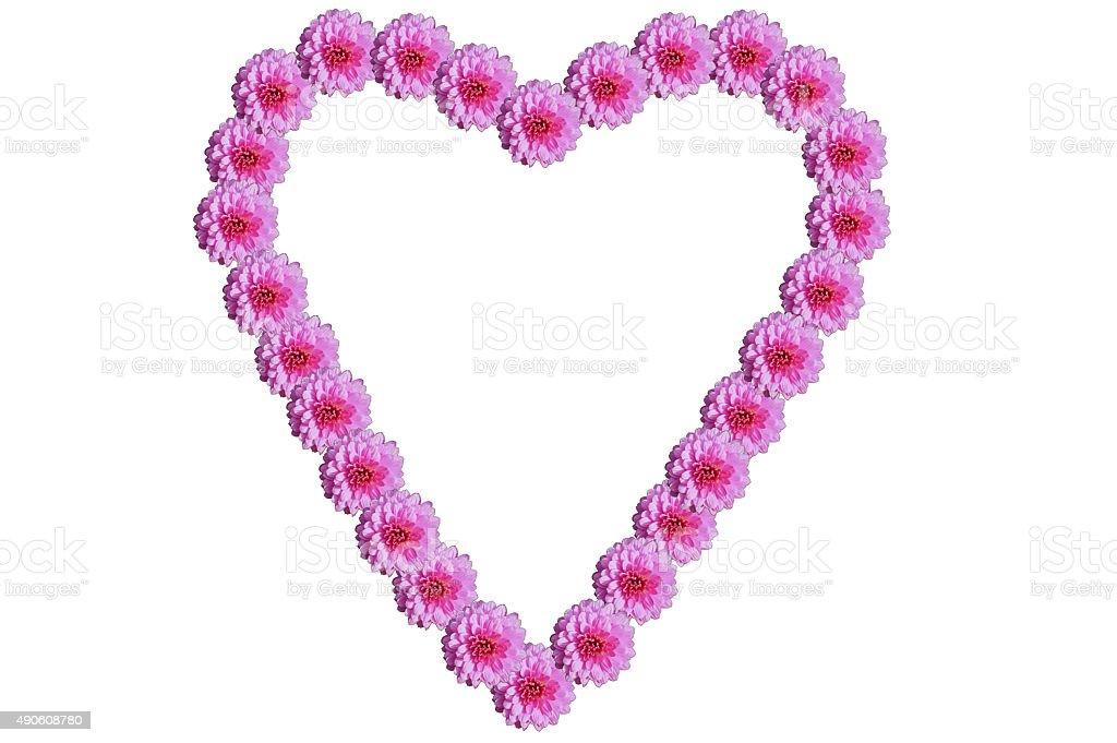 Corazón de las Flores foto de stock libre de derechos