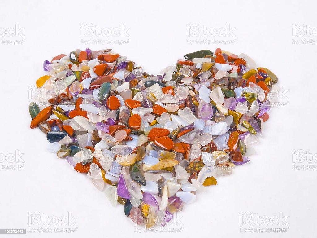 Heart of Gemstones stock photo