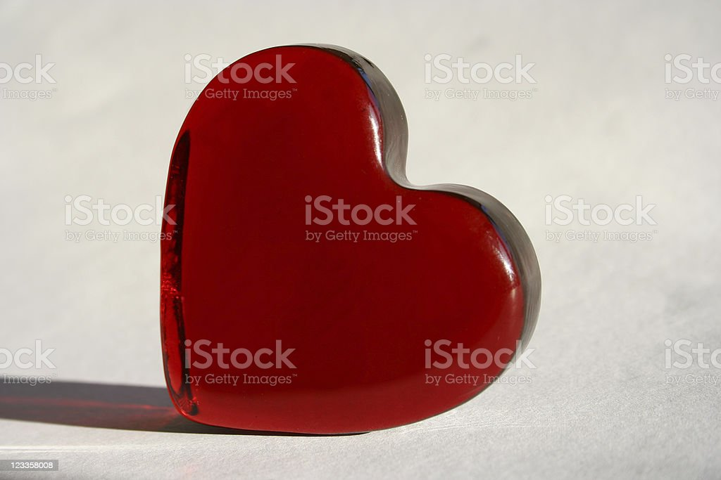 Heart of glass royalty-free stock photo