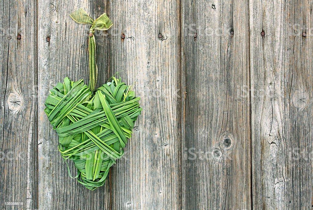 Cœur d'herbe photo libre de droits