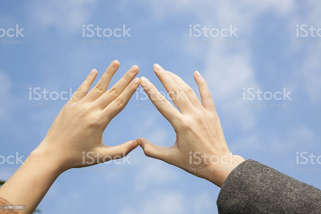 heart of hand royalty-free stock photo