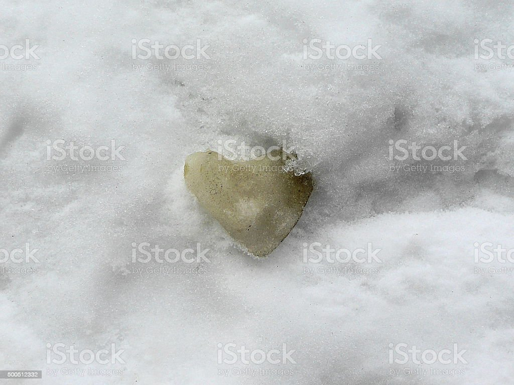 Heart of ice stock photo