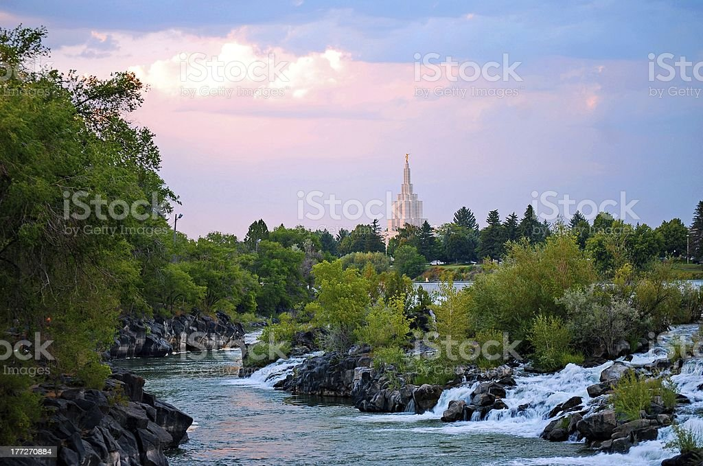 Heart of Idaho Falls stock photo
