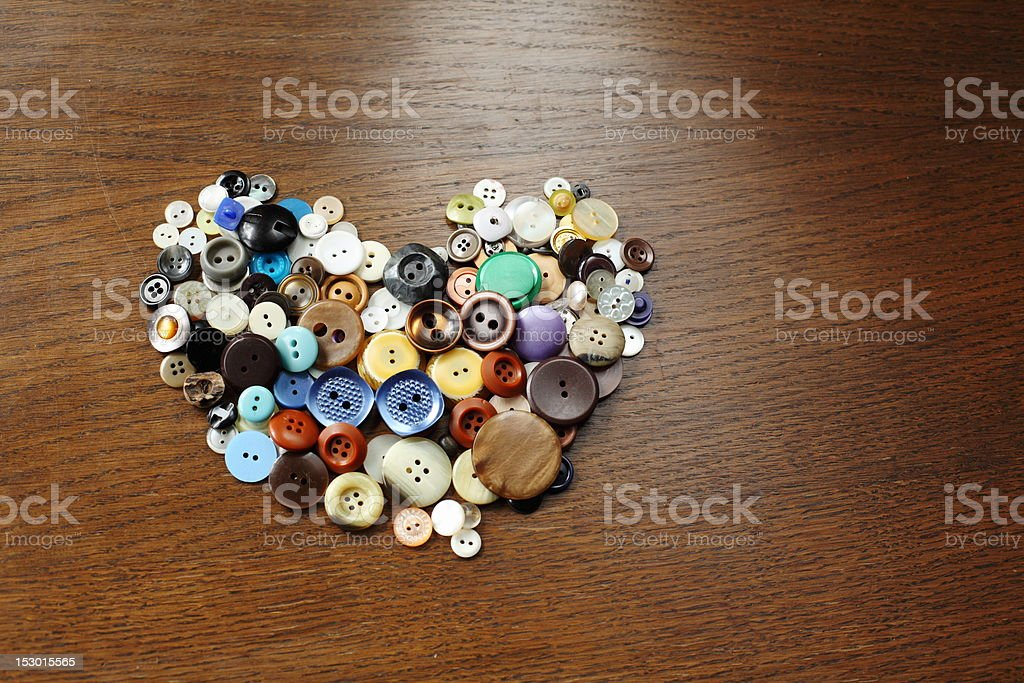 heart of multicolour buttons royalty-free stock photo