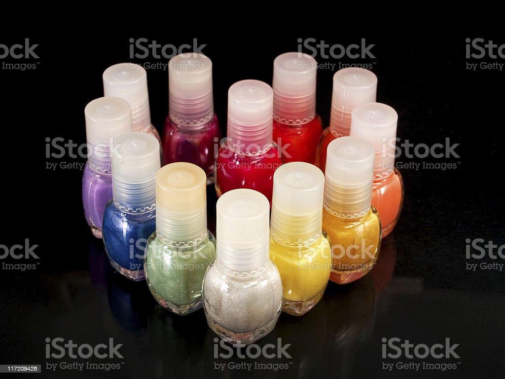 Heart of nail polish royalty-free stock photo