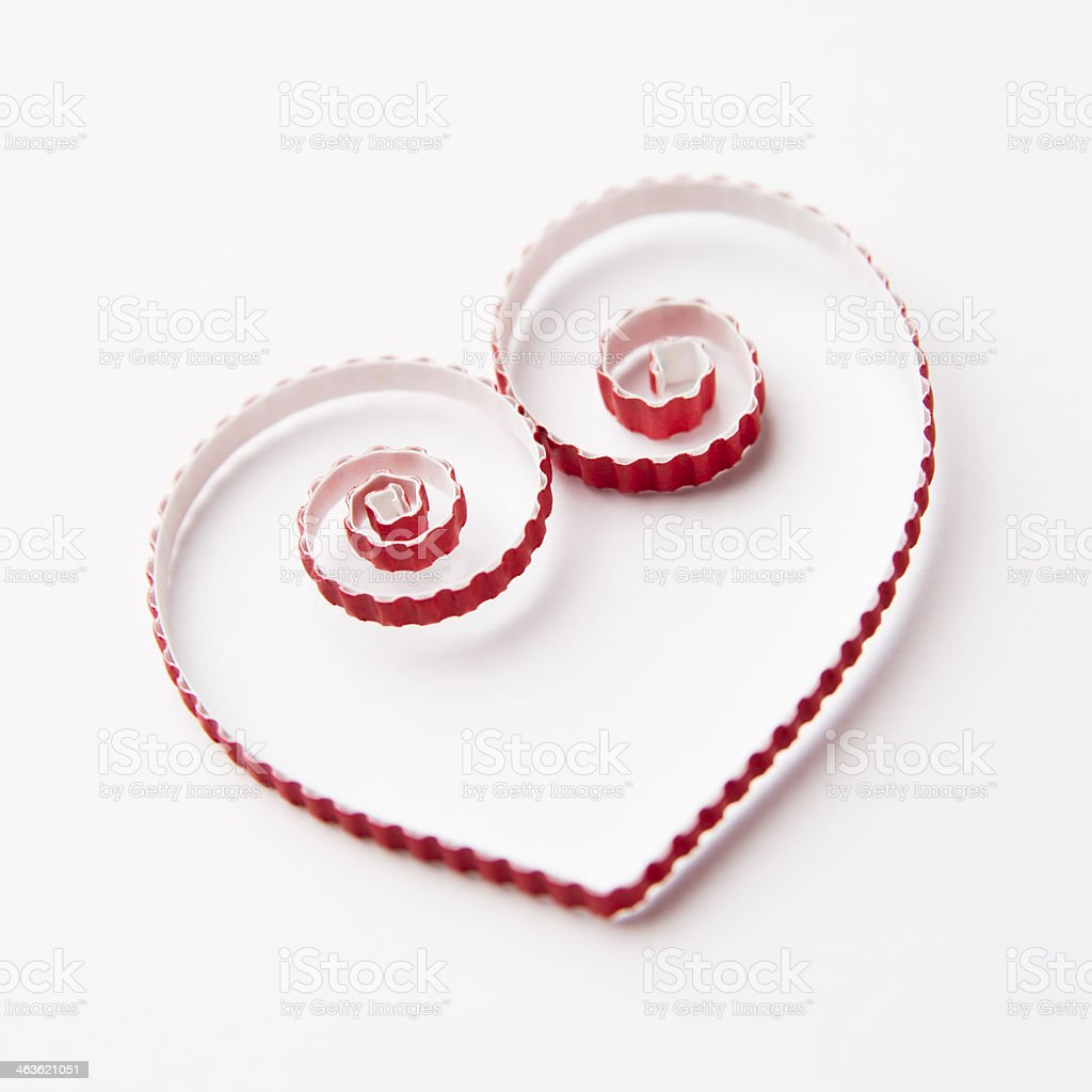 Heart of  paper quilling  for Valentine's day royalty-free stock photo