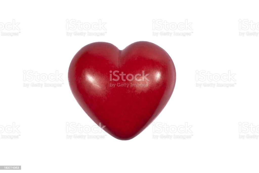 Heart of red stone stock photo