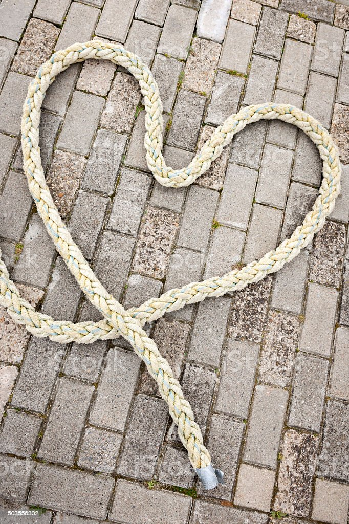 heart of rope_vertical stock photo