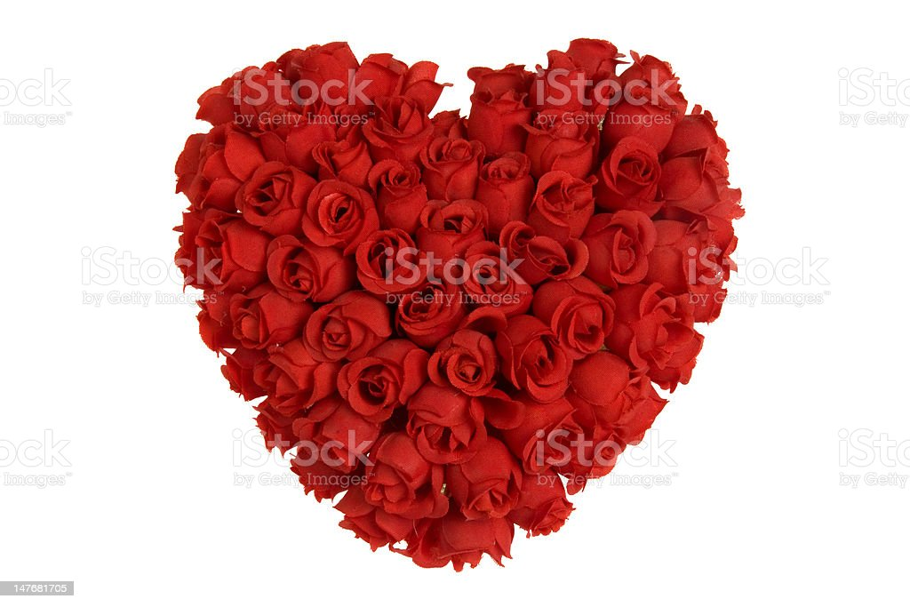 Heart of roses stock photo