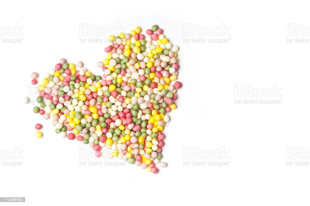 Heart of sprinkles stock photo
