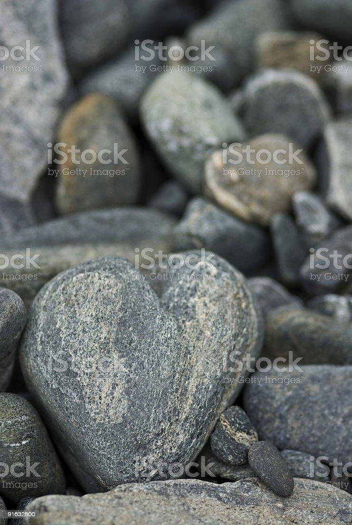 Heart of stone royalty-free stock photo