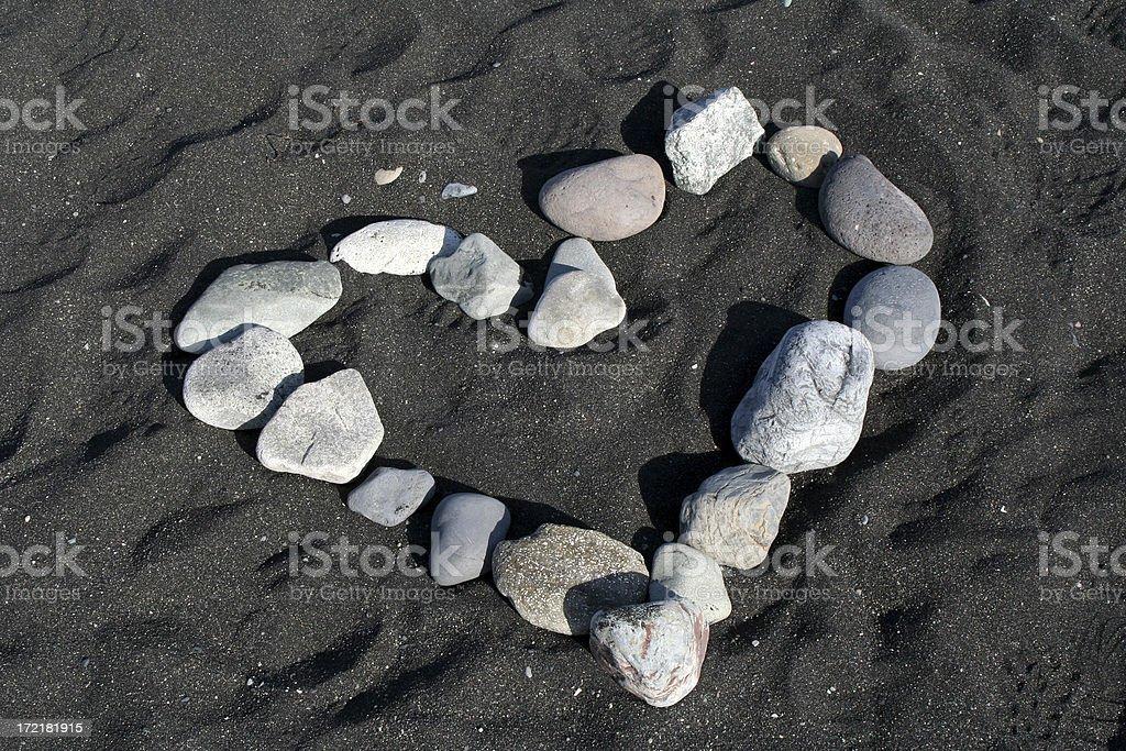 Heart of stones stock photo